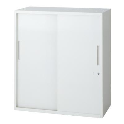 PLUS(プラス)オフィス家具 L6 2枚引違い保管庫 W(幅)800 D(奥行き)450 H(高さ)890
