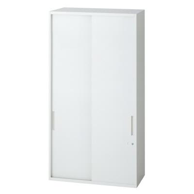 PLUS(プラス)オフィス家具 L6 2枚引違い保管庫 W(幅)800 D(奥行き)450 H(高さ)1210