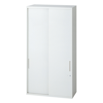 PLUS(プラス)オフィス家具 L6 2枚引違い保管庫 W(幅)800 D(奥行き)400 H(高さ)1210
