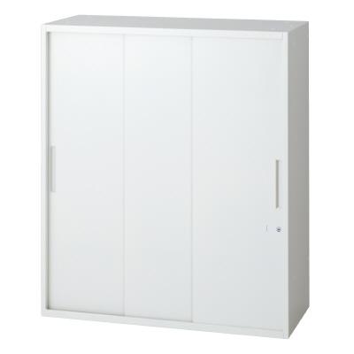 PLUS(プラス)オフィス家具 L6 3枚引違い保管庫 W(幅)900 D(奥行き)450 H(高さ)1050