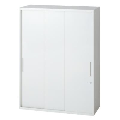 PLUS(プラス)オフィス家具 L6 3枚引違い保管庫 W(幅)900 D(奥行き)450 H(高さ)1210