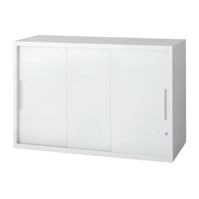 PLUS(プラス)オフィス家具 L6 3枚引違い保管庫 W(幅)900 D(奥行き)400 H(高さ)720