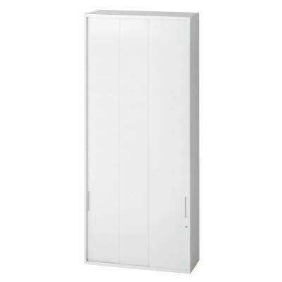 PLUS(プラス)オフィス家具 L6 3枚引違い保管庫 W(幅)900 D(奥行き)400 H(高さ)2100