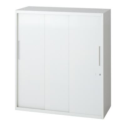 PLUS(プラス)オフィス家具 L6 3枚引違い保管庫 W(幅)800 D(奥行き)450 H(高さ)890