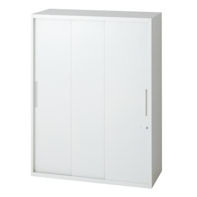 PLUS(プラス)オフィス家具 L6 3枚引違い保管庫 W(幅)800 D(奥行き)450 H(高さ)1050