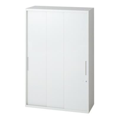 PLUS(プラス)オフィス家具 L6 3枚引違い保管庫 W(幅)800 D(奥行き)450 H(高さ)1210