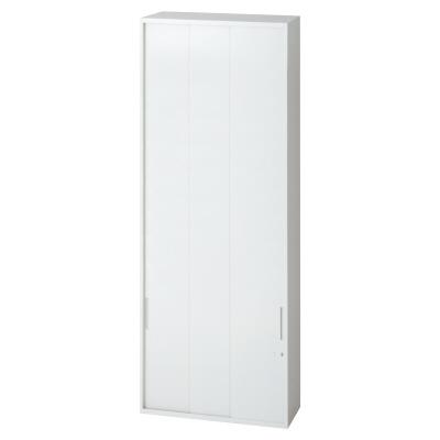 PLUS(プラス)オフィス家具 L6 3枚引違い保管庫 W(幅)800 D(奥行き)450 H(高さ)2100