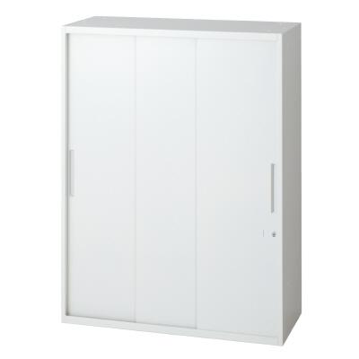 PLUS(プラス)オフィス家具 L6 3枚引違い保管庫 W(幅)800 D(奥行き)400 H(高さ)1050
