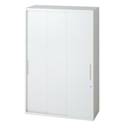 PLUS(プラス)オフィス家具 L6 3枚引違い保管庫 W(幅)800 D(奥行き)400 H(高さ)1210