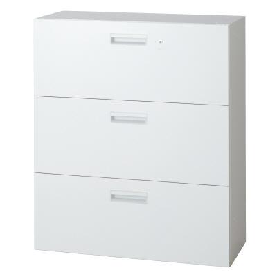 PLUS(プラス)オフィス家具 L6 ラテラルファイリングキャビネット W(幅)900 D(奥行き)500 H(高さ)1050