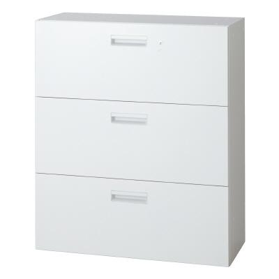 PLUS(プラス)オフィス家具 L6 ラテラルファイリングキャビネット W(幅)900 D(奥行き)400 H(高さ)1050
