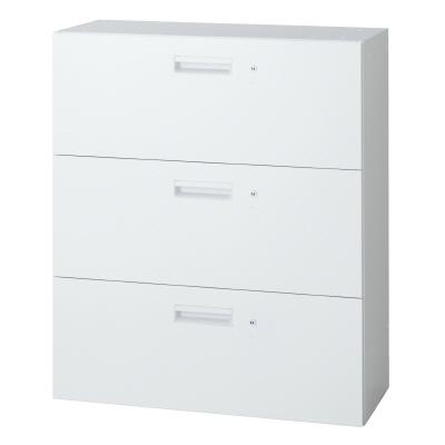 PLUS(プラス)オフィス家具 L6 ラテラルファイリングキャビネット(各段施錠) W(幅)900 D(奥行き)450 H(高さ)1050