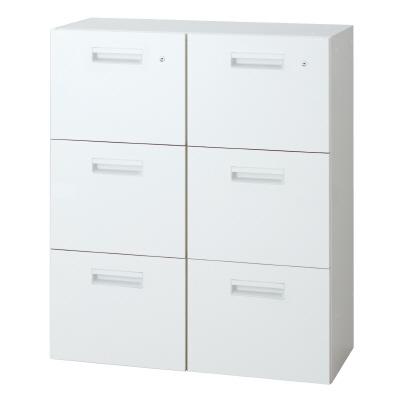 PLUS(プラス)オフィス家具 L6 ダブルバーチカル W(幅)900 D(奥行き)450 H(高さ)1050