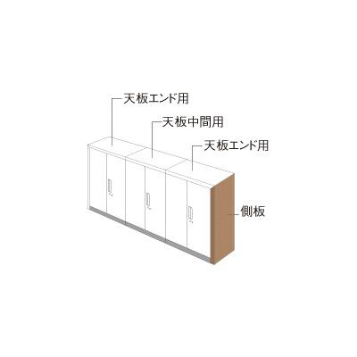 PLUS(プラス)オフィス家具 L6 ナチュラルパネル W900 × D 450 片面用 W(幅)30 D(奥行き)450 H(高さ)1100