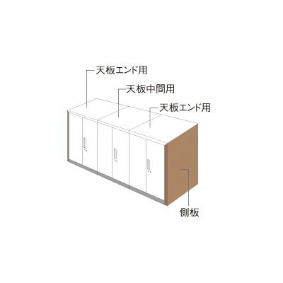 PLUS(プラス)オフィス家具 L6 ナチュラルパネル W900 × D 800 両面用 W(幅)30 D(奥行き)800 H(高さ)1100