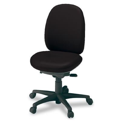 PLUS(プラス)オフィス家具 950II SERIES 肘なし ハイバック ビニルレザー W(幅)596 D(奥行き) H(高さ)