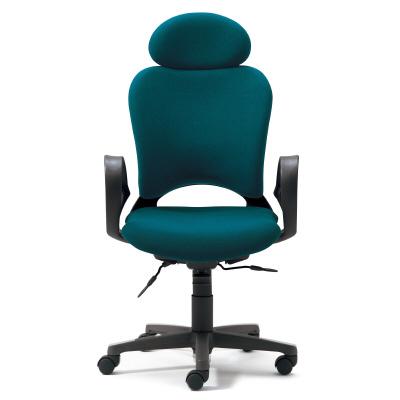 PLUS(プラス)オフィス家具 防炎仕様クロスチェア Oval ゼネラルタイプ・フロントアジャスト肘付 エクストラハイバック W(幅) D(奥行き) H(高さ)
