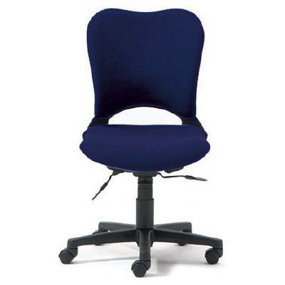 PLUS(プラス)オフィス家具 防炎仕様クロスチェア Oval ゼネラルタイプ・肘なし ハイバック W(幅) D(奥行き) H(高さ)