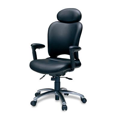 PLUS(プラス)オフィス家具 オーバルシリーズ・マネージャータイプ エクストラハイバック フロントアジャスト肘 W(幅)605 D(奥行き) H(高さ)