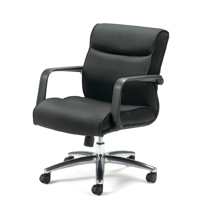 PLUS(プラス)オフィス家具 MA-06 ミドルバック 革張り W(幅)670 D(奥行き)680 H(高さ)
