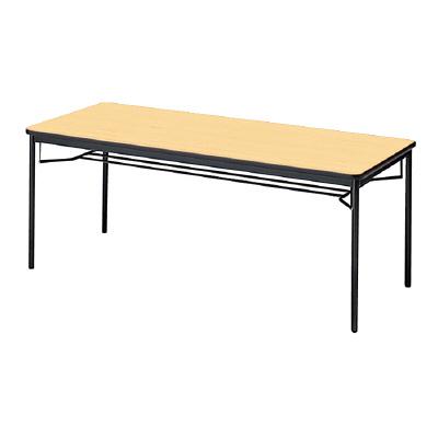 PLUS(プラス)会議テーブル/ミーティングテーブル/YB2・YB2 会議テーブル YB-625 WM/BK