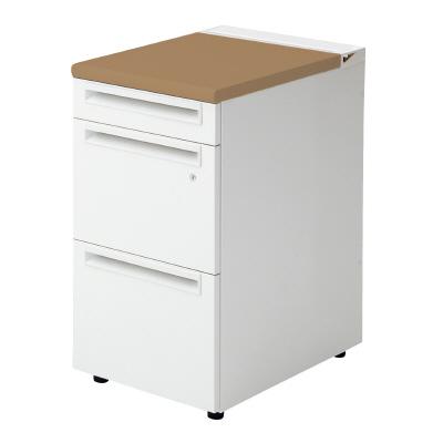 PLUS(プラス)オフィス家具 US-1脇机(A-3段袖) D600標準収納タイプ W(幅)400 D(奥行き)600 H(高さ)720