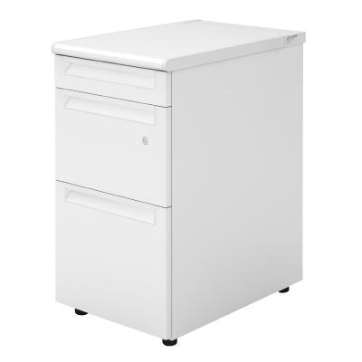 PLUS(プラス)オフィス家具 US-1脇机(D-3段袖) D600標準収納タイプ W(幅)400 D(奥行き)600 H(高さ)720