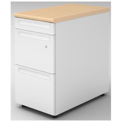 PLUS(プラス)オフィス家具 US-2 脇机(A-3段袖) D700標準収納タイプ W(幅)400 D(奥行き)700 H(高さ)720
