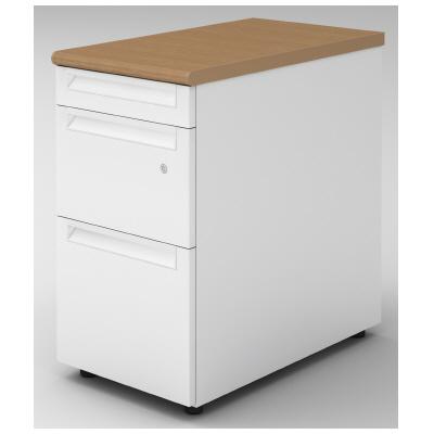 PLUS(プラス)オフィス家具 US-2 脇机(D-3段袖) D700標準収納タイプ W(幅)400 D(奥行き)700 H(高さ)720