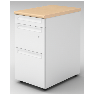 PLUS(プラス)オフィス家具 US-2 脇机(D-3段袖) D600標準収納タイプ W(幅)400 D(奥行き)600 H(高さ)720