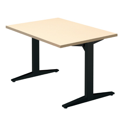 PLUS(プラス)会議テーブル/ミーティングテーブル/STAGEO・ステージオ 会議テーブル ST-120TR WM/BK