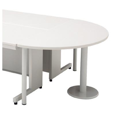 PLUS(プラス)デスク/スタンダードデスク/LAデスク(共通オプション)・半円形エンドテーブル LA-7DT-HR WS