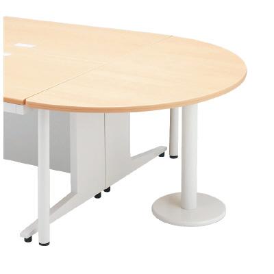 PLUS(プラス)デスク/スタンダードデスク/LAデスク(共通オプション)・半円形エンドテーブル LA-7DT-HR WM