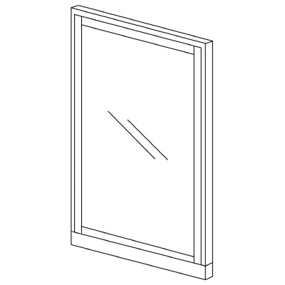 PLUS(プラス)オフィス家具 KIパネル(ガラス) H1825 W(幅)1200 D(奥行き)50 H(高さ)1825