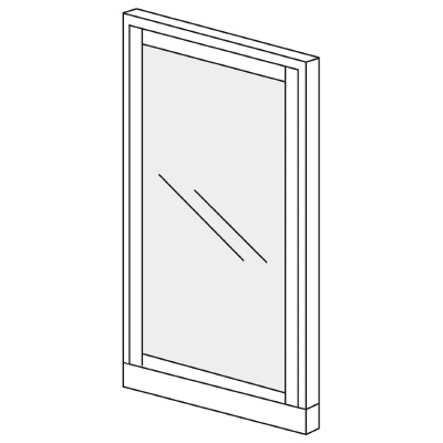 PLUS(プラス)オフィス家具 KIパネル(ガラス) H1600 W(幅)900 D(奥行き)50 H(高さ)1600