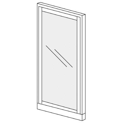 PLUS(プラス)オフィス家具 KIパネル(ガラス) H1825 W(幅)900 D(奥行き)50 H(高さ)1825