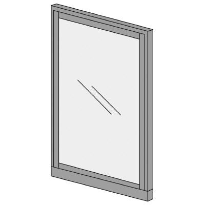 PLUS プラス オフィス家具 KIパネル ガラス H1825 W 幅 H 1200 オンラインショップ 1825 50 高さ D 新着 奥行き