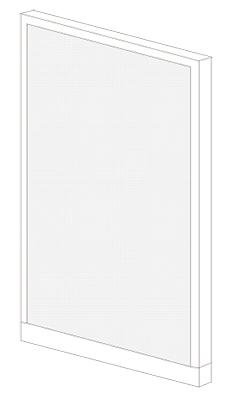 【7月30日限定!エントリー+カード払いでポイント最大14倍!】PLUS(プラス)オフィス家具 KIパネル(PET再生クロス) H1600 W(幅)900 D(奥行き)50 H(高さ)1600