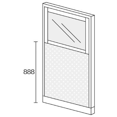 PLUS(プラス)オフィス家具 KIパネル(PET再生クロス) コンビパネル H1600 W(幅)900 D(奥行き)50 H(高さ)1600