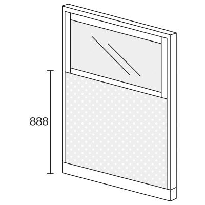 PLUS(プラス)オフィス家具 KIパネル(PET再生クロス) コンビパネル H1600 W(幅)1200 D(奥行き)50 H(高さ)1600