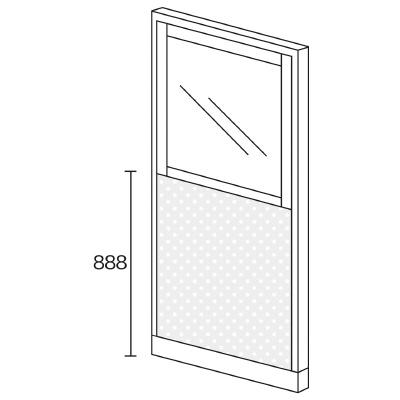 PLUS(プラス)オフィス家具 KIパネル(PET再生クロス) コンビパネル H1825 W(幅)900 D(奥行き)50 H(高さ)1825