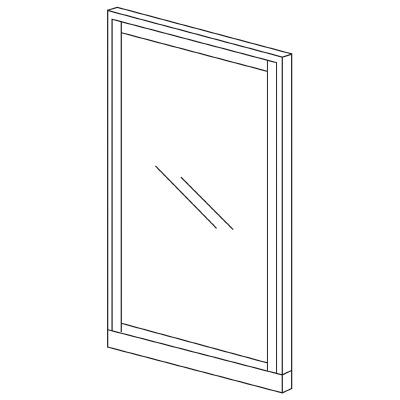 PLUS(プラス)オフィス家具 KIパネル(ガラス) H2000 W(幅)1200 D(奥行き)50 H(高さ)2000