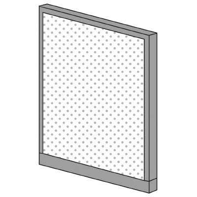 PLUS(プラス)オフィス家具 KIパネル(光触媒クロス) H1250 W(幅)900 D(奥行き)50 H(高さ)1250