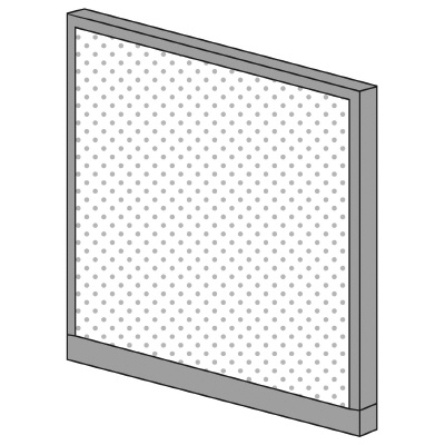 PLUS(プラス)オフィス家具 KIパネル(光触媒クロス) H1250 W(幅)1100 D(奥行き)50 H(高さ)1250