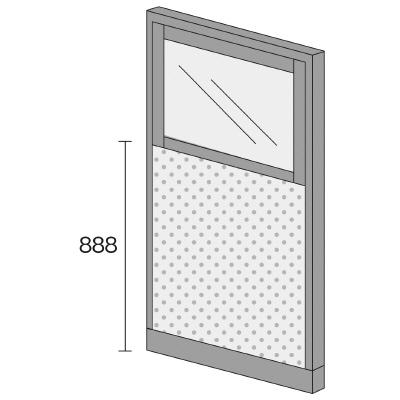 PLUS(プラス)オフィス家具 KIパネル(光触媒クロス) コンビパネル H1600 W(幅)900 D(奥行き)50 H(高さ)1600