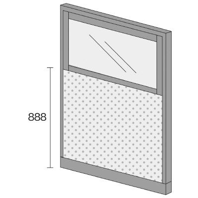 PLUS(プラス)オフィス家具 KIパネル(光触媒クロス) コンビパネル H1600 W(幅)1200 D(奥行き)50 H(高さ)1600