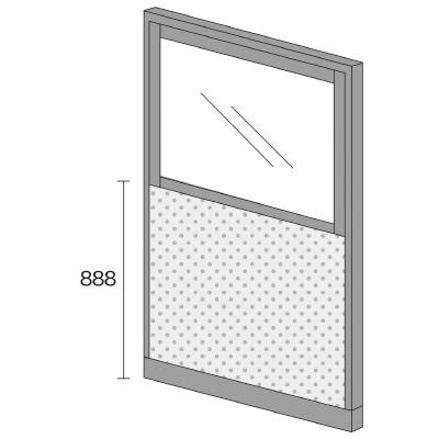 PLUS(プラス)オフィス家具 KIパネル(光触媒クロス) コンビパネル H1825 W(幅)1200 D(奥行き)50 H(高さ)1825