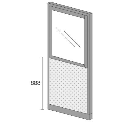 PLUS(プラス)オフィス家具 KIパネル(光触媒クロス) コンビパネル H2000 W(幅)900 D(奥行き)50 H(高さ)2000