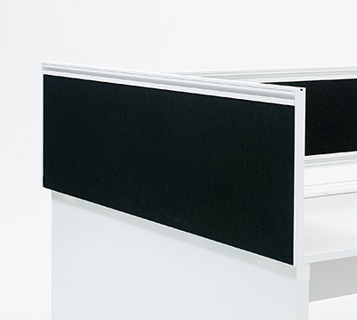 PLUS(プラス)オフィス家具 STAGEO FREE サイドデスクトップパネル エンド用 両面用 光触媒クロスパネル H400タイプ W(幅)1400 D(奥行き) H(高さ)430