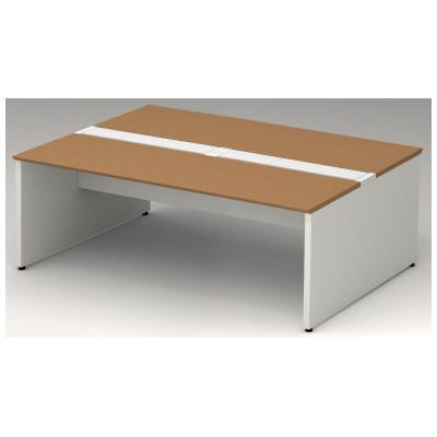 PLUS(プラス)オフィス家具 STAGEO FREE type-W 両面ベースセット W(幅)2000 D(奥行き)1400 H(高さ)720